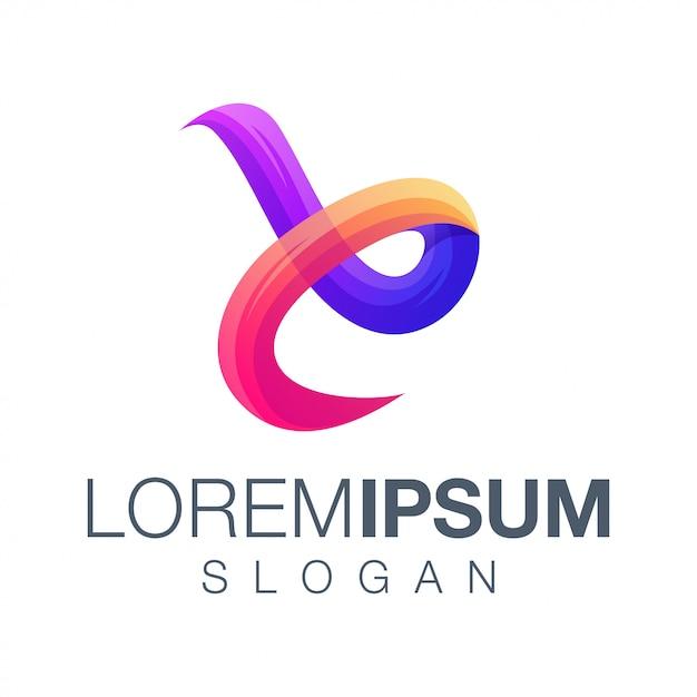 Création de logo couleur dégradé lettre e Vecteur Premium