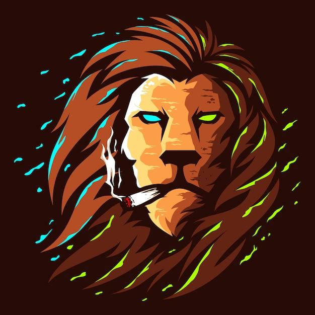 Création De Logo Couleur Tête De Lion Illustration Vecteur Premium