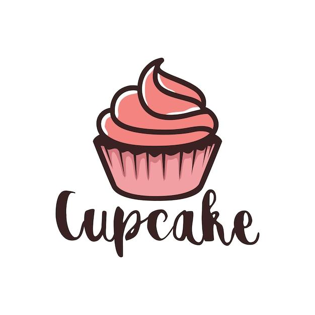 Création De Logo De Cupcake Vecteur Premium