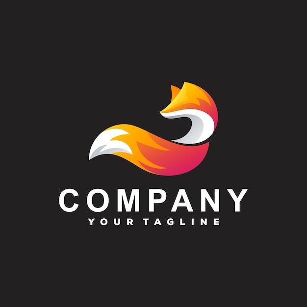 Création De Logo Dégradé De Couleur Fox Vecteur Premium