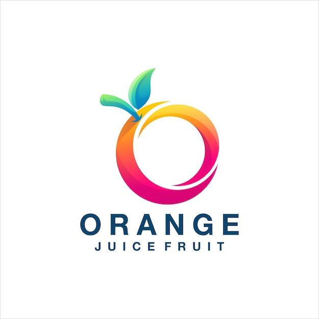 Création De Logo Dégradé De Couleur Orange Vecteur Premium