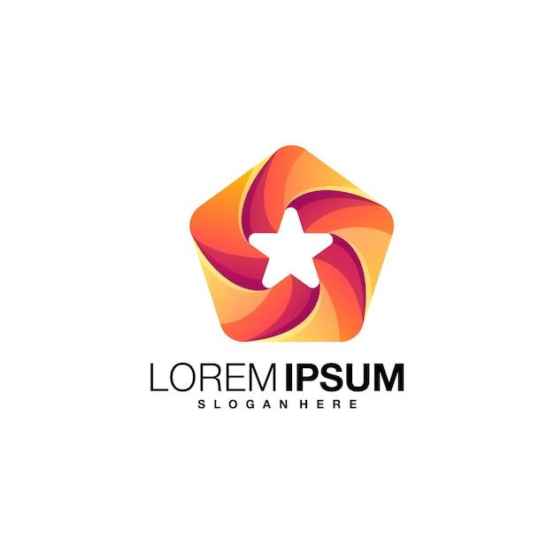 Création De Logo Dégradé étoile Vecteur Premium