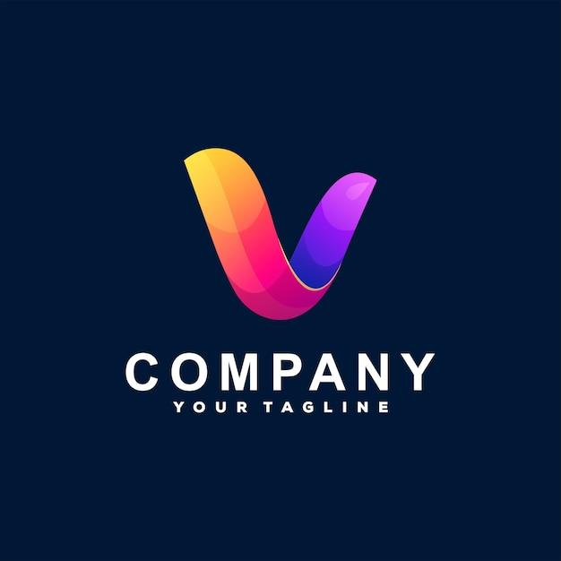 Création De Logo Dégradé Lettre V Vecteur Premium