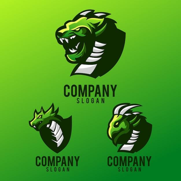 Création De Logo Dragon Vecteur Premium