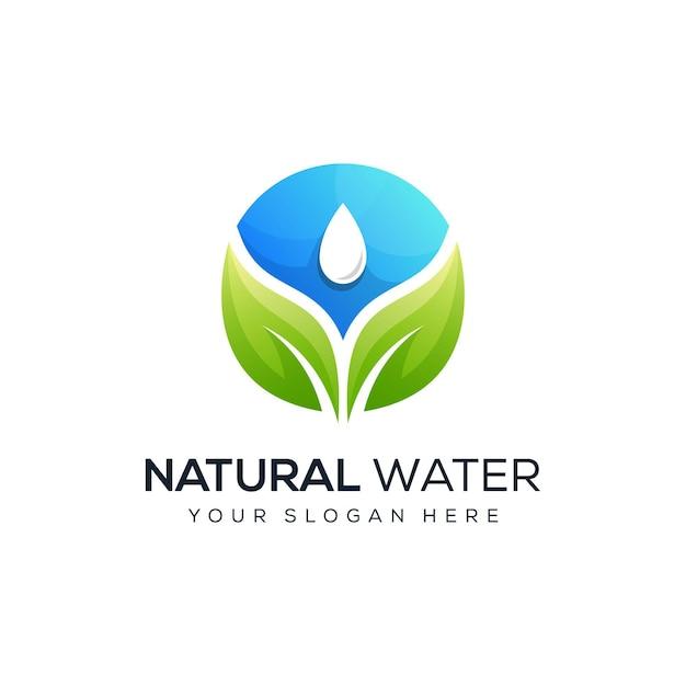 Création De Logo D'eau De Feuille Moderne Vecteur Premium