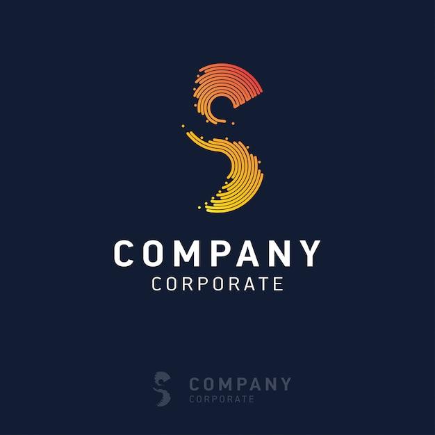 Création de logo d'entreprise s avec vecteur de carte de visite Vecteur Premium
