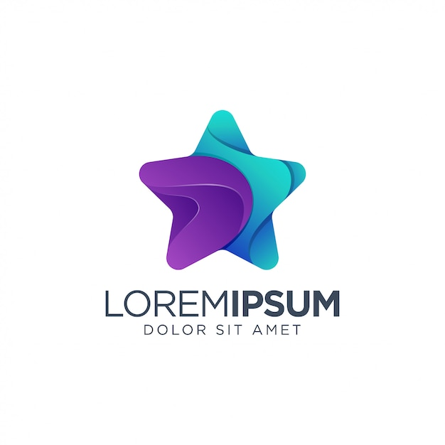 Création de logo étoile Vecteur Premium