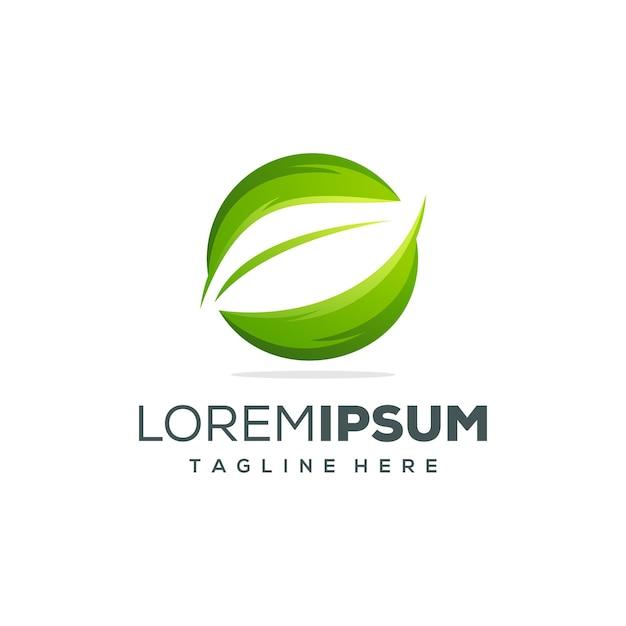 Création de logo feuille Vecteur Premium
