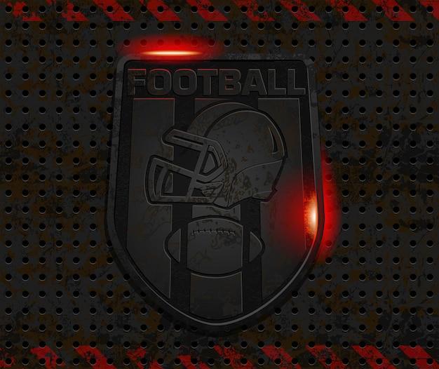 Création De Logo De Football En Fer Rouillé Vecteur Premium