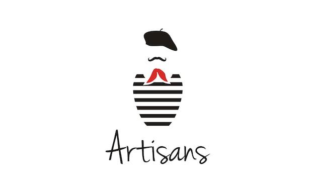 Création de logo france painter Vecteur Premium