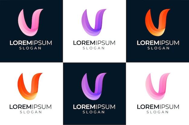 Création De Logo Fulcolor Lettre V Vecteur Premium