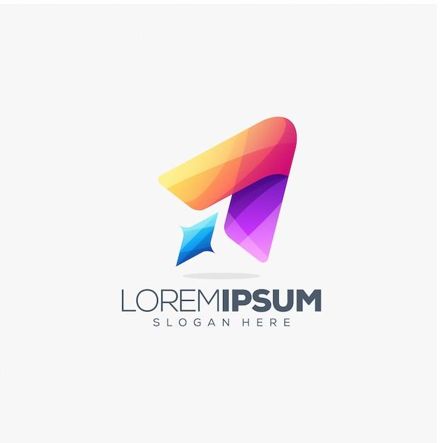Création de logo de fusée Vecteur Premium
