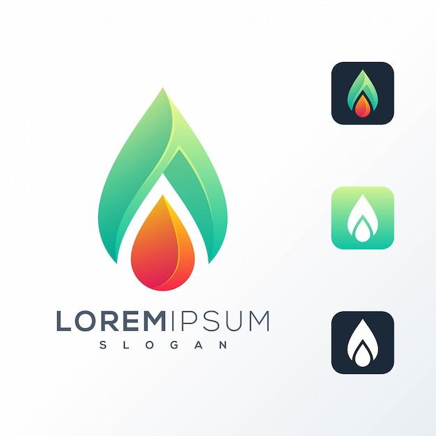 Création De Logo Goutte D'eau Abstraite Vecteur Premium
