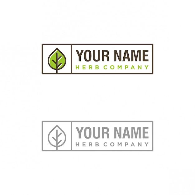 Création de logo herb company Vecteur Premium
