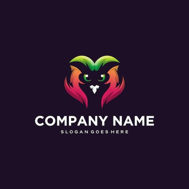 Création De Logo Hibou Coloré Vecteur Premium
