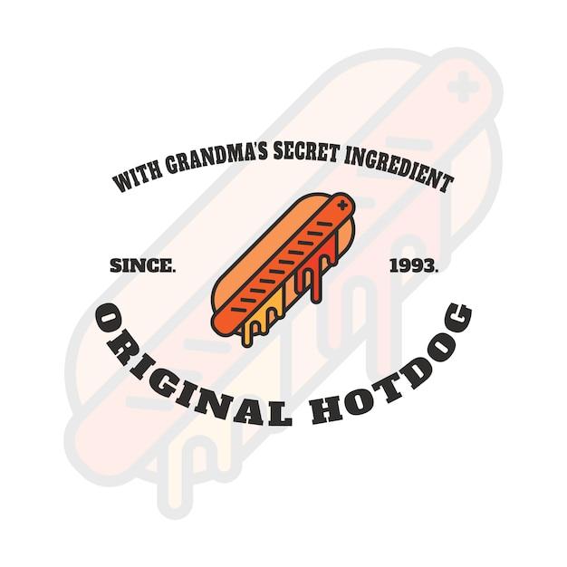Création De Logo Hot Dog Vecteur gratuit