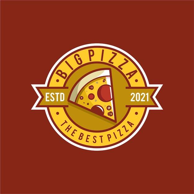 Création De Logo Illustration Pizza Vecteur Premium