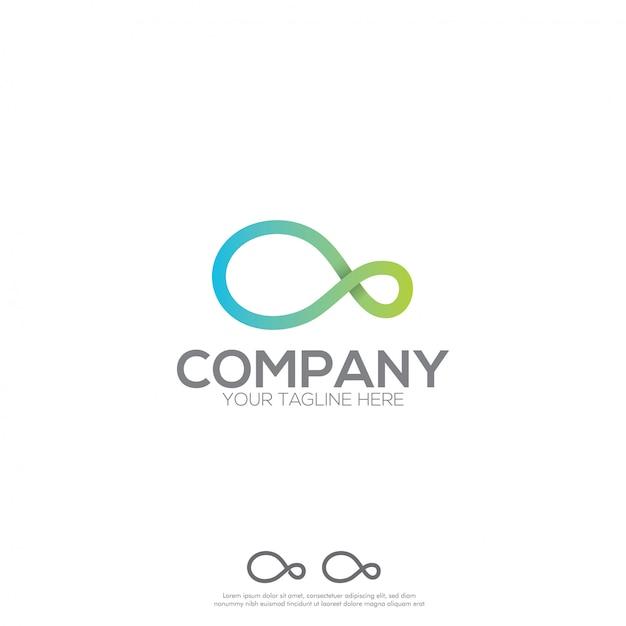 Création de logo infinity Vecteur Premium
