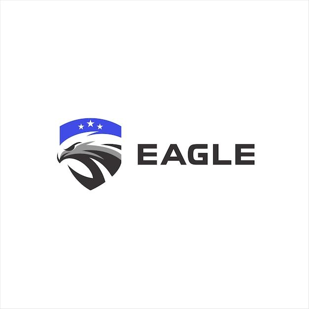 Création De Logo D'insigne Tête D'aigle Vecteur Premium