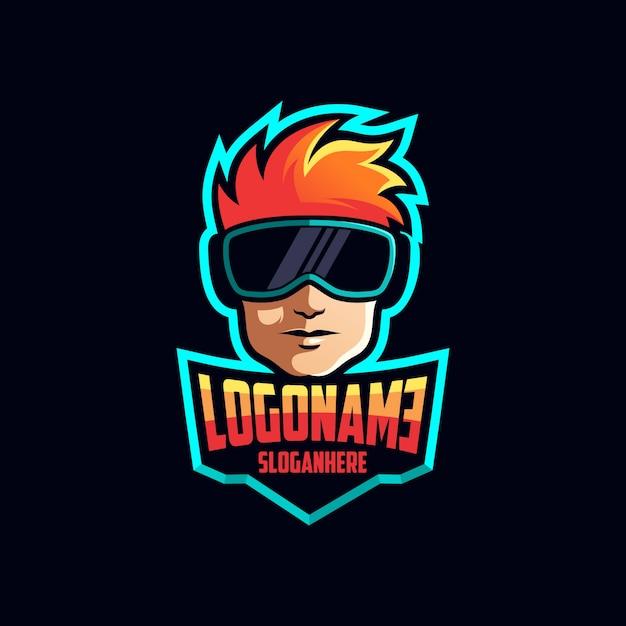 Création de logo de joueur Vecteur Premium