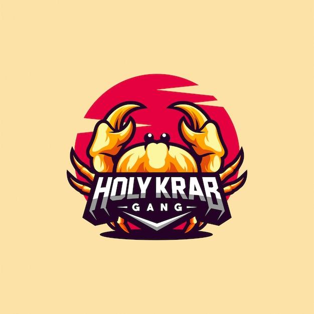Création de logo krab prête à l'emploi Vecteur Premium