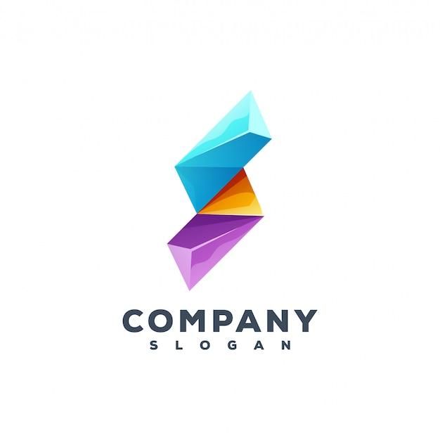 Création de logo lettre s Vecteur Premium