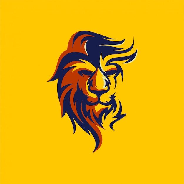 Création De Logo Lion Vecteur Premium