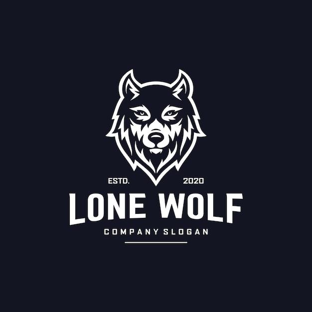 Création De Logo De Loup Vecteur Premium