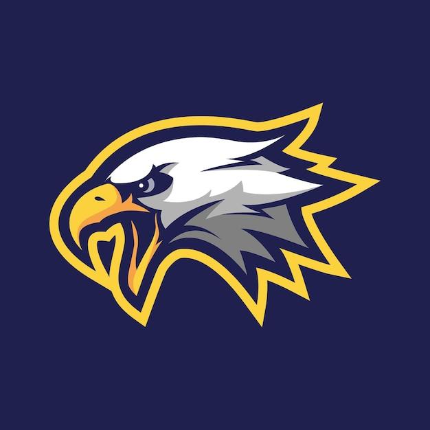 Création De Logo De Mascotte D'aigle Pour Le Sport Ou L'e-sport Vecteur Premium