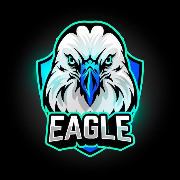 Création De Logo De Mascotte Avec Aigle Vecteur Premium