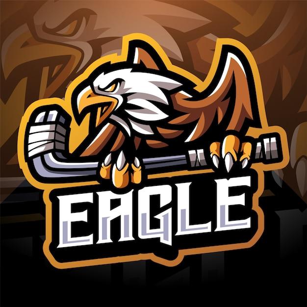 Création De Logo De Mascotte Eagle Sport Esport Vecteur Premium