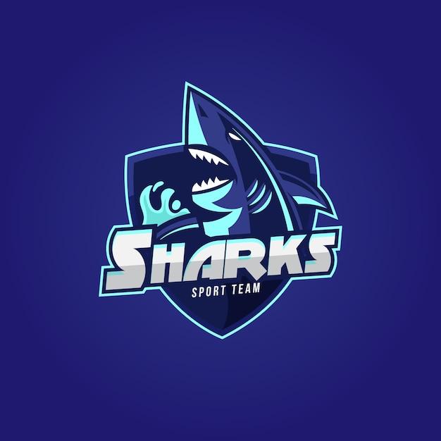 Création De Logo De Mascotte Avec Requin Vecteur gratuit