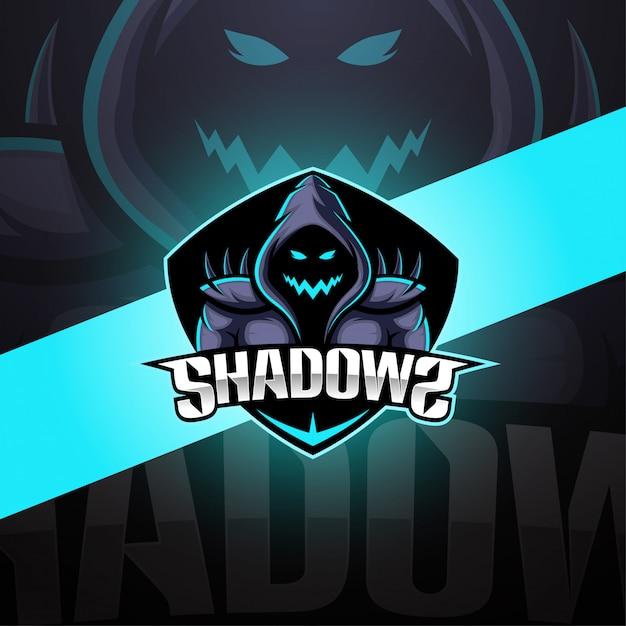 Création De Logo De Mascotte Shadows Esport Vecteur Premium