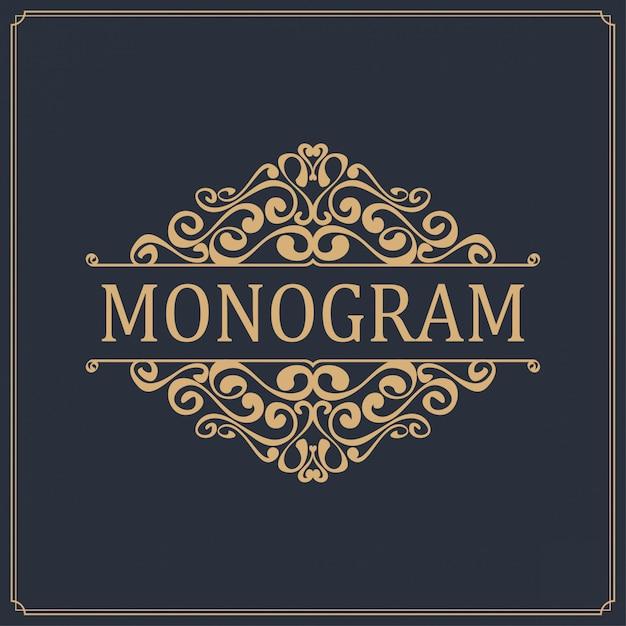 Création de logo de modèle de luxe Vecteur Premium