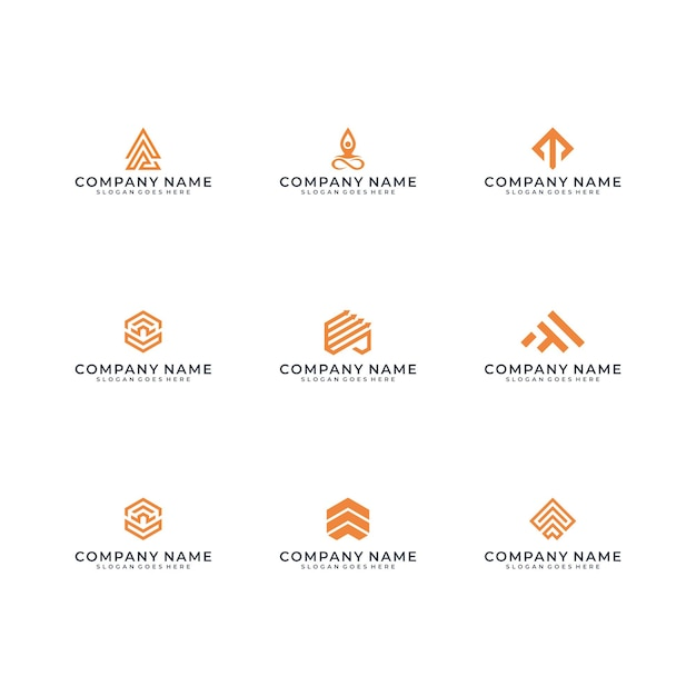 Création De Logo Moderne Vecteur Premium
