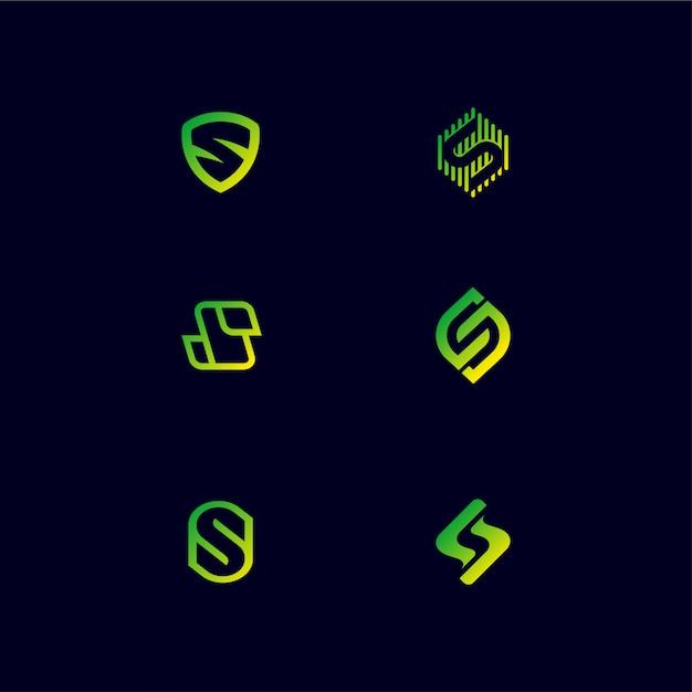Création De Logo Monogram Letter S Vecteur Premium