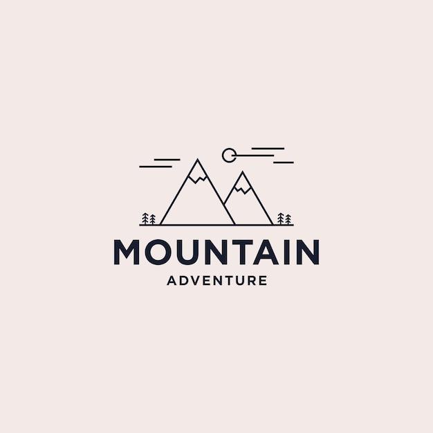 Création De Logo De Montagne Abstraite Vecteur Premium