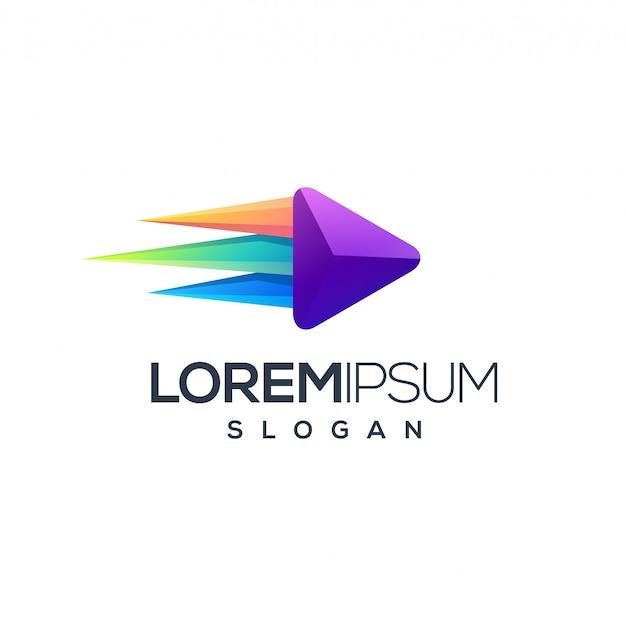 Création de logo multimédia impressionnante Vecteur Premium