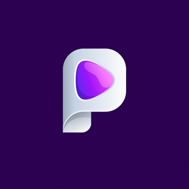 Création de logo multimédia Vecteur Premium