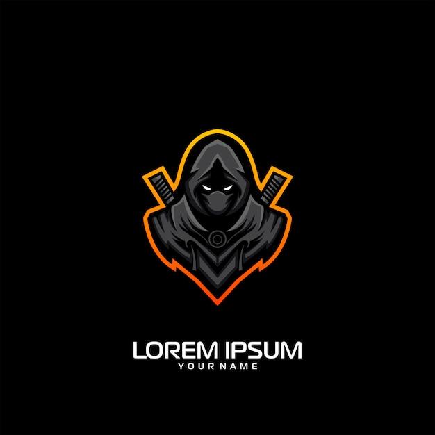 Création de logo ninja Vecteur Premium