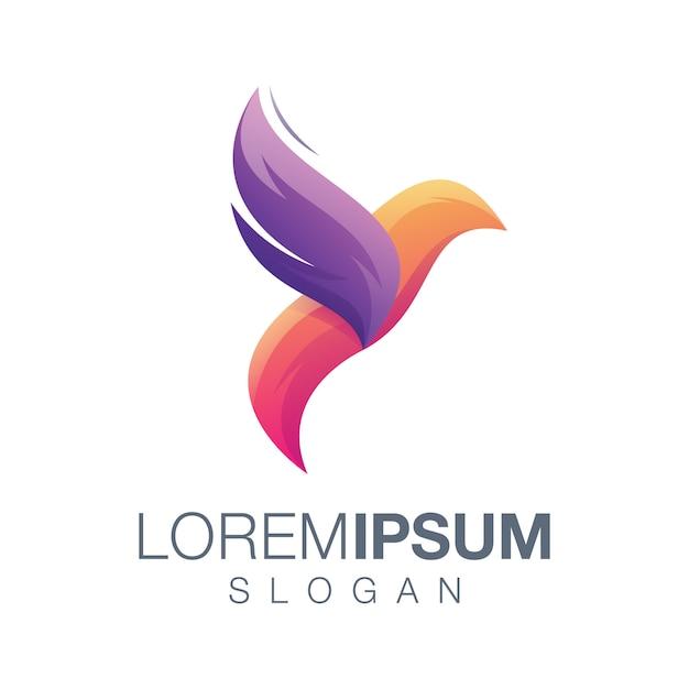 Création de logo oiseau abstrait Vecteur Premium