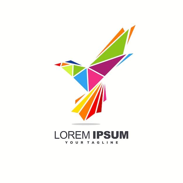 Création de logo oiseau génial Vecteur Premium