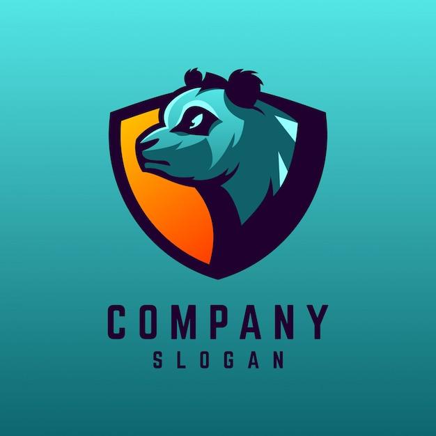 Création de logo panda Vecteur Premium