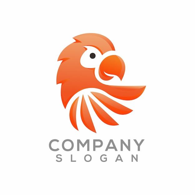 Création de logo perroquet Vecteur Premium