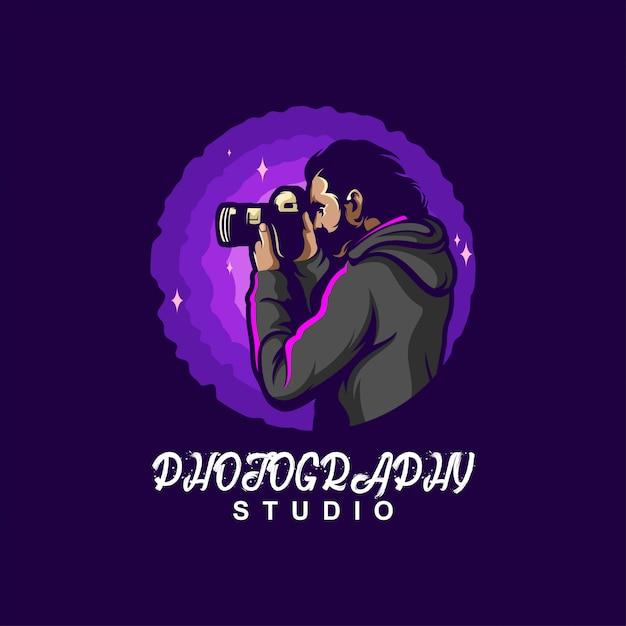 Création De Logo De Photographie Vecteur Premium