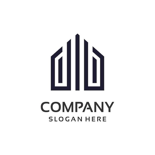 Création de logo de propriété immobilière Vecteur Premium