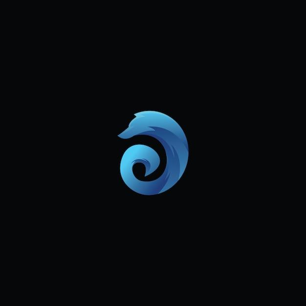 Création de logo renard Vecteur Premium