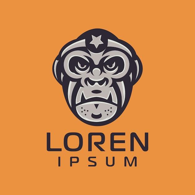 Création de logo de singe Vecteur Premium