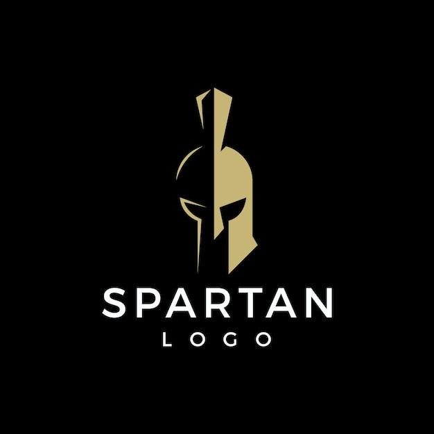 Création de logo spartiate minimaliste Vecteur Premium