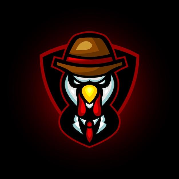 Création De Logo Sport Turquie Poulet Mafia E Vecteur Premium